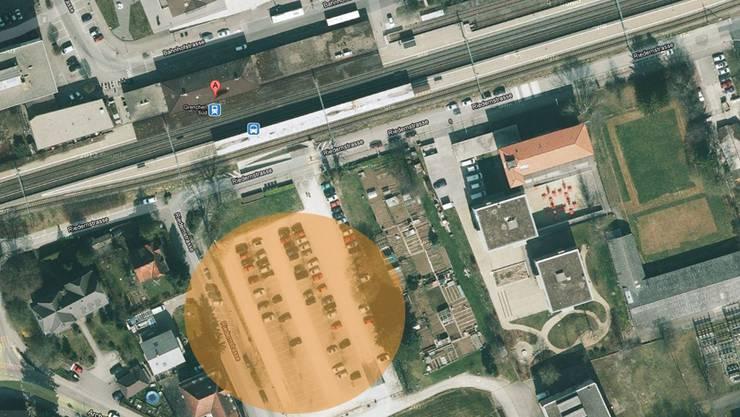 Auf dem Parkplatz südlich des Bahnhofs Grenchen Süd kam es zum Zwischenfall.