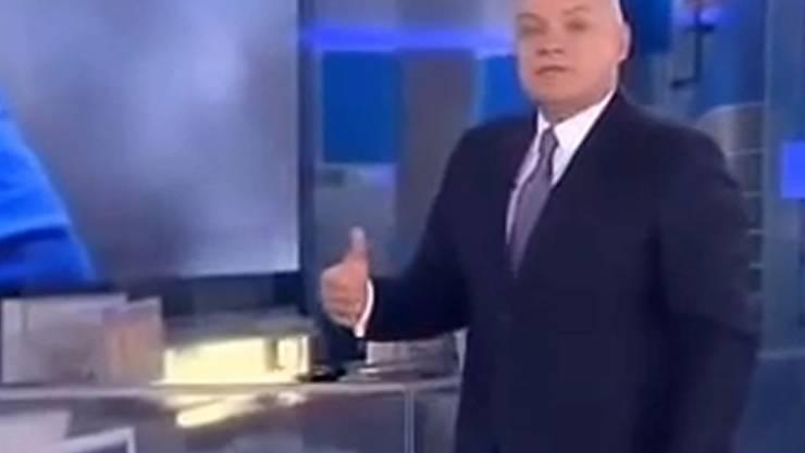 Der umstrittene russische Journalist Dmitri Kiseljow.