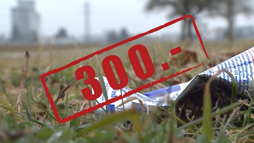 Littering soll im Aargau künftig 300 Franken kosten