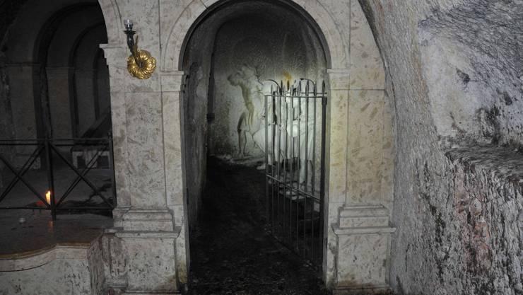 Beim Brand in der Verenakapelle entstanden Russschäden. (Archiv)