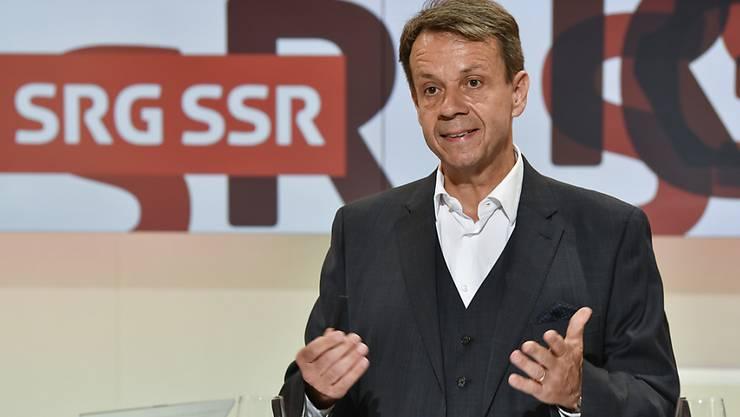 Der Generaldirektor der SRG, Gilles Marchand, zeigt sich in einem Interview offen für alternative Modelle des Service public und sieht einen Knackpunkt bei den öffentlichen Internetangeboten. (Archivbild)