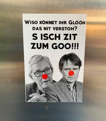 Immer wieder wird an die sogenannten «Glöön» appelliert.