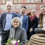 Wie sieht die neue Zusammensetzung aus? Gruppenbild des ehemaligen Stadtrates vor dem Rathaus von links: Franz Kaufmann, Marie-Theres Beeler, Daniel Spinnler, Regula Nebiker und Daniel Muri.