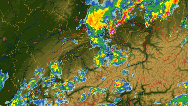 Grosse Regenmengen bis Dienstagabend erwartet