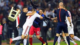Am 14. Oktober 2014 kam es in Belgrad zum Skandal