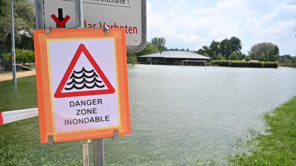 Hochwasser: Die Situation am Neuenburgersee bleibt heikel