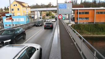 Hier soll am Sonntag gegen das Schweizer Kernkraftwerk Beznau demonstriert werden: Die Grenze zwischen Waldshut und Koblenz. Maximilian Halter