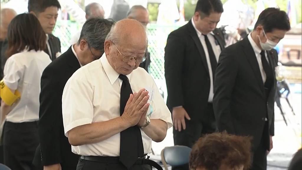 75 Jahre nach der Bombe: Nagasaki gedenkt den Opfern