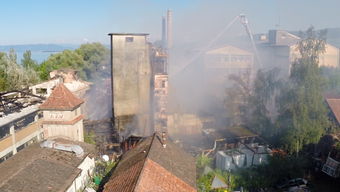 Grossbrand in Horn TG am Bodensee