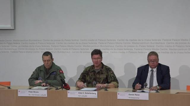 PC-7 lokalisiert: Ausschnitte aus der Medienkonferenz am Dienstagnachmittag