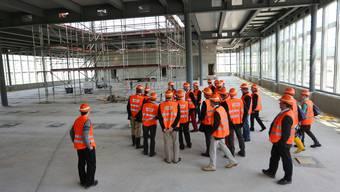 In dieser Rohbauhalle wird das Herzstück der SBB-Betriebszentrale seinen Platz finden.