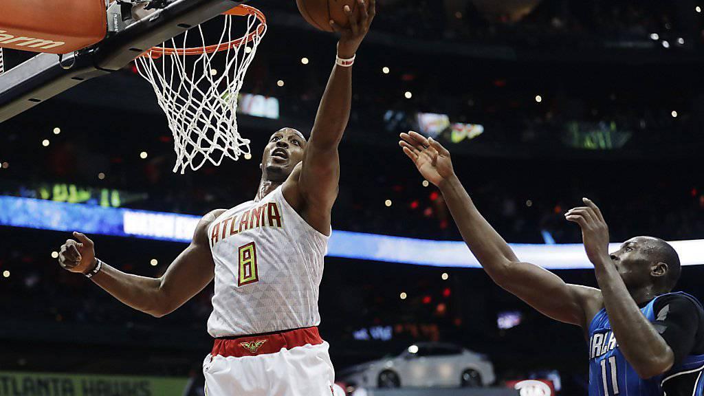 Seine 20 Punkte und 16 Rebounds waren nicht genug für den dritten Sieg in Serie: Atlantas Center Dwight Howard