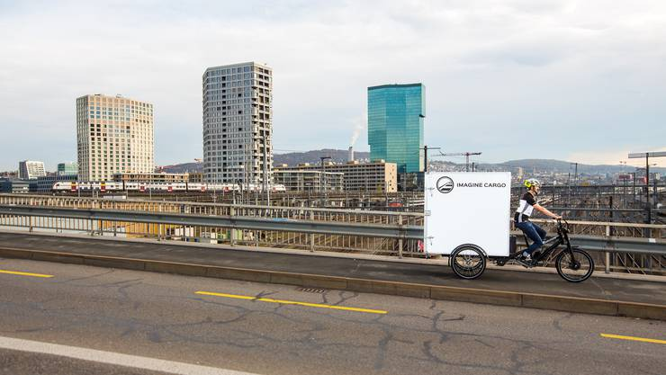 Imagine Cargo will die gewerbliche Logistik in der Stadt Zürich vollständig mit Cargo-Velos organisieren.