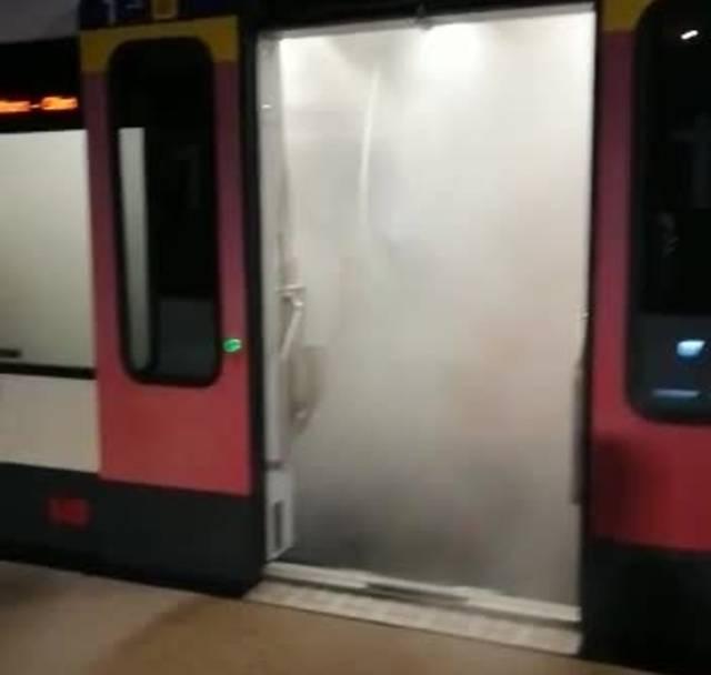 Feuerwerk im Zug