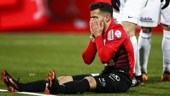 Varol Tasar niedergeschlagen nach dem 0:1 gegen den FC Wil.
