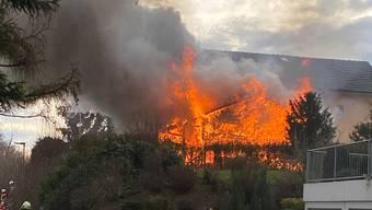 Brand in Staufen Ende Dezember 2019