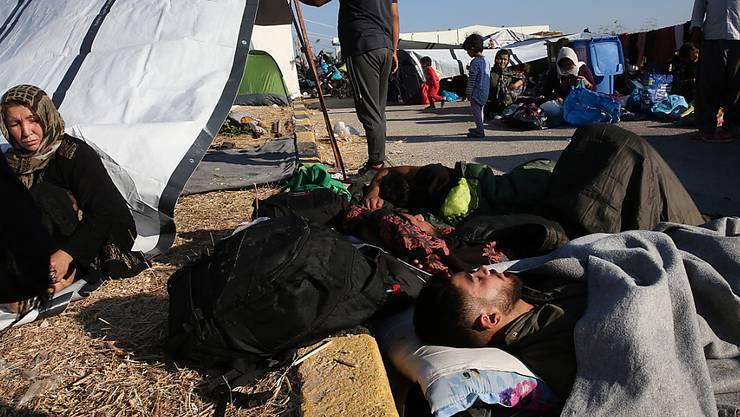 Die Petition erhielt 228 Stimmen: «Sofortige Aufnahme von obdachlosen Flüchtlingen aus Moria, Lesbos»