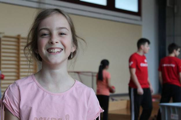 Eine treue Besucherin der Open Sundays ist die neun jährige Alyssa
