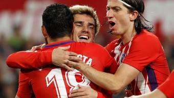 Antoine Griezmann und seine Kollegen siegten auch in Sevilla