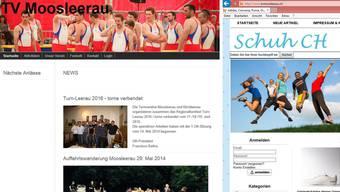Bis vor rund einem Jahr war die Internetseite des Turnvereins Moosleerau mit sportlichem Inhalt gefüllt, nun lockt ein dubioser Schuhversand mit Schnäppchenangeboten.