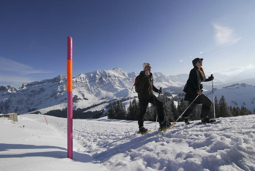 Schneeschuhlaufen auf dem Kronberg © zvg