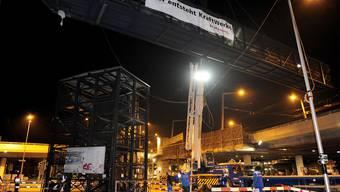 Zürich: Provisorische Passerelle beim Escher-Wyss-Platz wurde in der Nacht demontiert