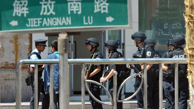 Chinesische Polizisten in Kashgar (Symbolbild)