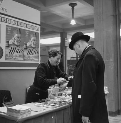 1942: Werbung für den Rasierapparat Miliz in den Kriegsjahren