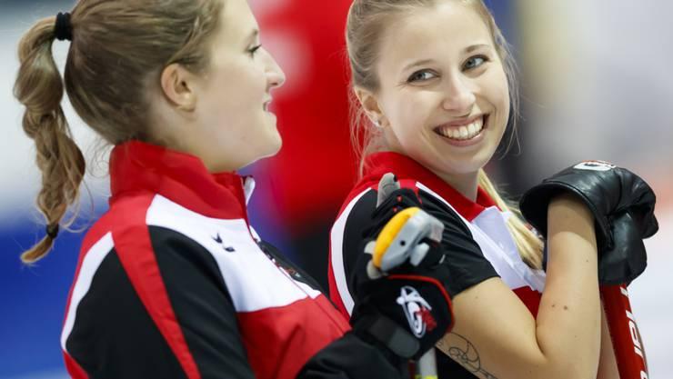 Eine Adelbodnerin und eine Stadtzürcherin vereint: Céline Koller (links) und Elena Stern