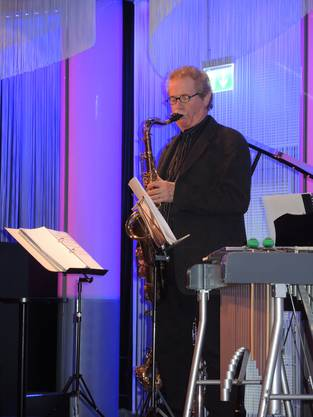 Saxophonist legt ein tolles Solo hin