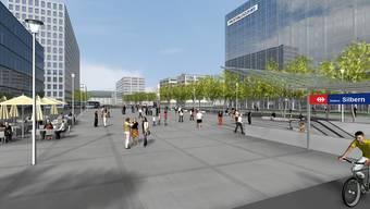 Das Bundesamt für Verkehr soll die S-Bahn-Station Silbern endlich vorantreiben. Dies fordert die Zürcher Planungsgruppe Limmattal. (Visualisierung)