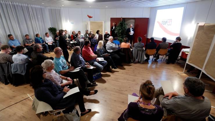 Die Teilnehmer des Workshops trafen sich in der Biberena