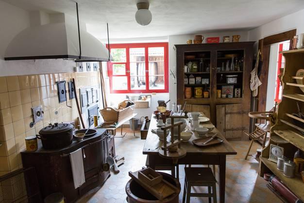 Die Küche im Wohnhaus des Ortsmuseums Schürhof in Windisch, am 9. Mai 2017.
