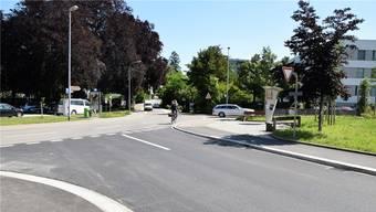Zur Diskussion im Einwohnerrat steht die Einrichtung einer Begegnungszone im Bereich der Schöneggkreuzung.