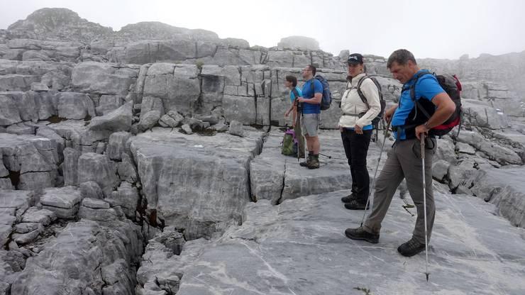 Sieht aus wie ein Gletscher, ist aber ein Karstgebiet aus Alpenkalk.