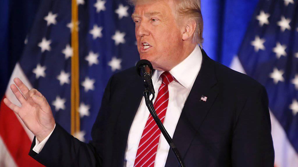 US-Präsidentschaftskandidat Donald Trump spricht vor Anhängern in Youngstown, im Swing-State Ohio.