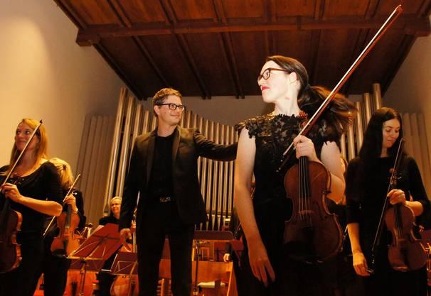 Christina Merblum führte zum Höhepunkt des Konzertes - in Johann Sebastian Bachs Doppelkonzert für zwei Violinen in d-moll