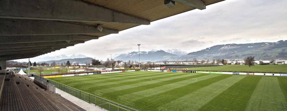 Die Ruhe vor dem Sturm: Heute Abend ist der FC Basel im Stadion Grünfeld in Rapperswil-Jona zu Gast. Bild: www.fcrj.ch