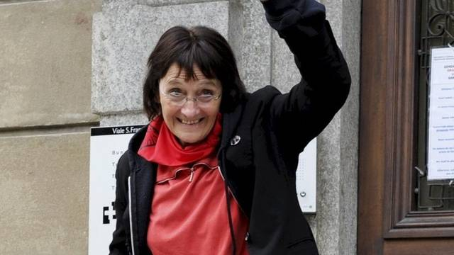 Andrea Stauffacher vor dem Bundesstrafgericht. (Archiv)