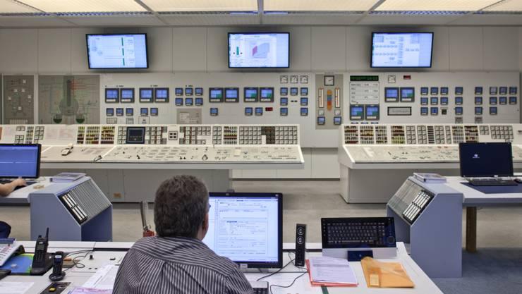 Der Kommandoraum des Kernkraftwerks Mühleberg. Hier wird am 20. Dezember das Atomkraftwerk abgestellt. (Archivbild)