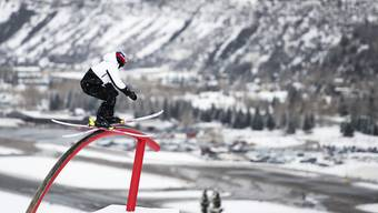 Die Freiburgerin Mathilde Gremaud im Training an den X-Games in Aspen