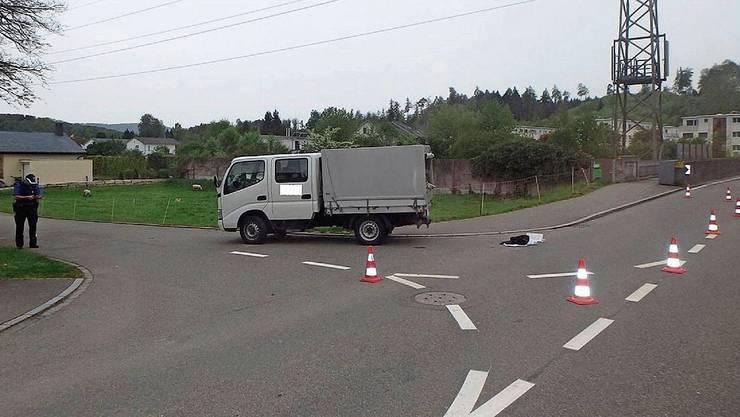 Der Unfall an der Ecke Holzgasse/Geissmattstrasse in Hausen ereignete sich im Mai 2017.