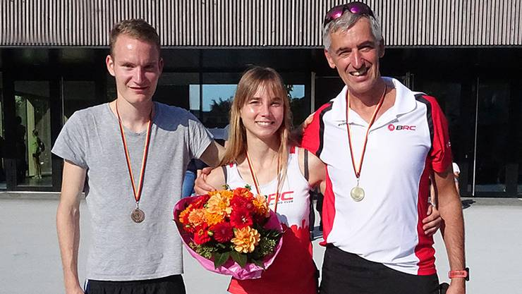 v.L.n.R. David Keller, Maren Tritschler, TRainer Hauch