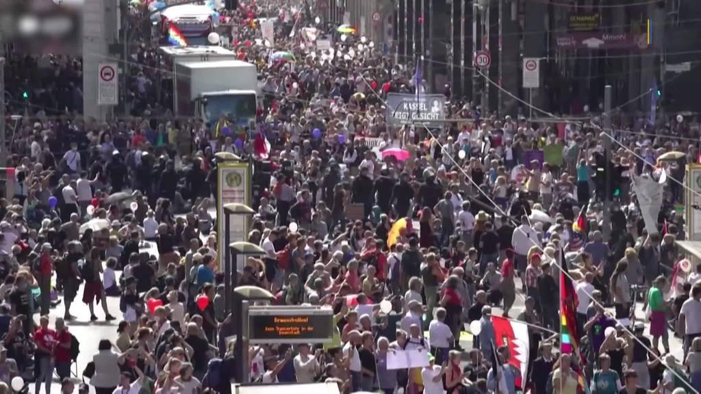 Corona-Demonstrationen in KN: Auch TG-Polizisten im Einsatz