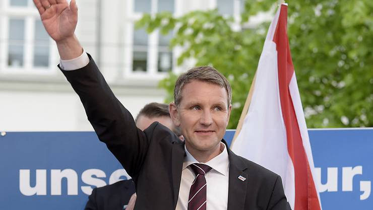 Der umstrittene Thüringer Landesvorsitzende der AfD, Björn Höcke, bei einer Veranstaltung in Erfurt im Mai 2016.