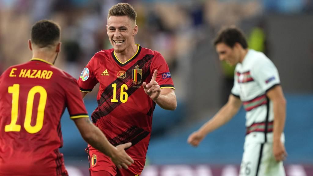 Belgien zittert sich gegen Portugal zum Viertelfinal-Ticket