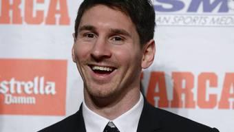 Fussball-Star Lionel Messi darf sich freuen (Archiv)