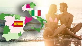 Ferien an den Stränden von Italien oder Spanien? In einigen Regionen ist dies besser möglich als in anderen. Bild: shutterstock/watson