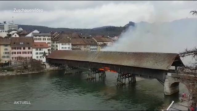 Oltner Wahrzeichen in Flammen