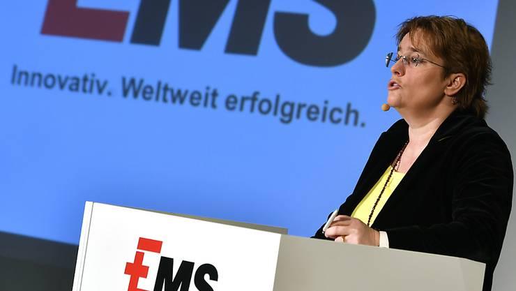 Ems-Chemie-Chefin Magdalena Martullo-Blocher kann ein Umsatzwachstum zum Jahresauftakt verkünden. (Archiv)